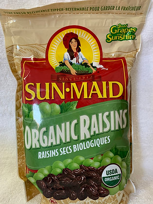 SUNMAID RAISIN SEC ORGANIQUE 907GR