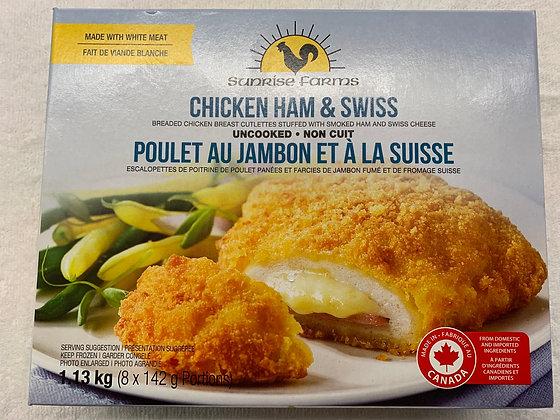 Poulet au jambon et à la Suisse sunrise farms