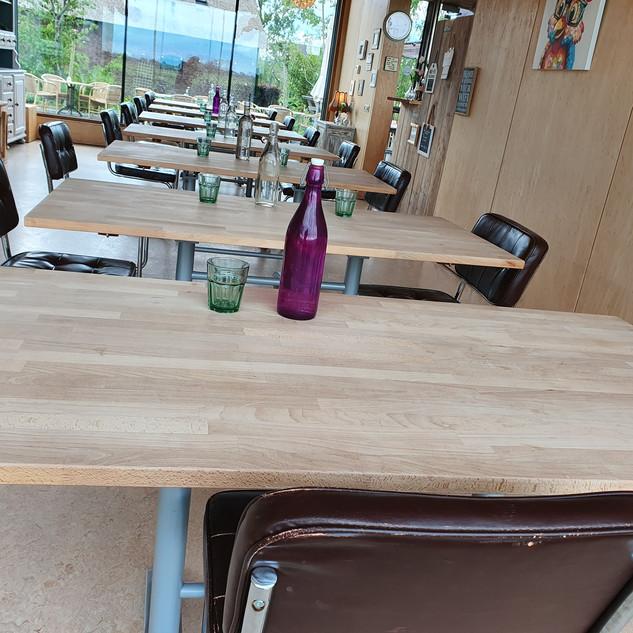opstelling losse tafels tot 14 p