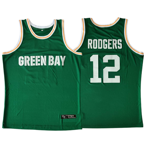 Rodgers Green Bay Hoops Jersey