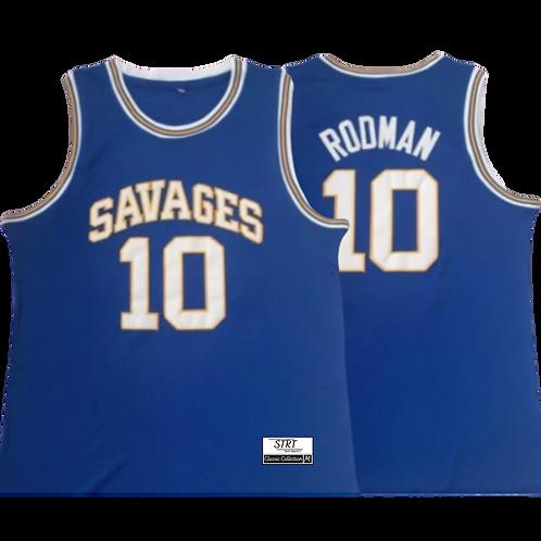 Retro Dennis Rodman Savages High school Jersey