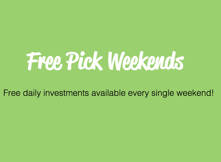 Free Pick Weekends are now here!