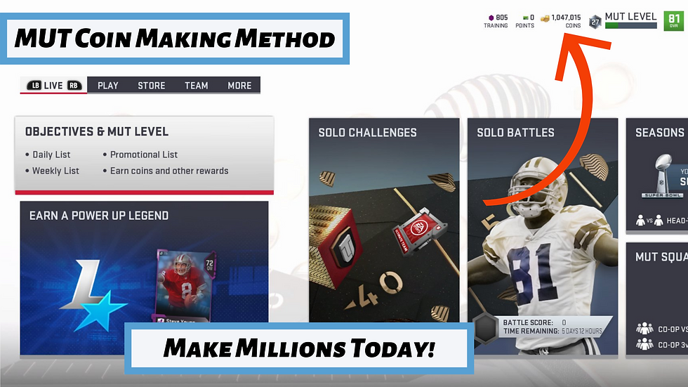 MUT Coin Making Method - Limited Offer