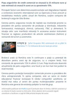 Press Release on Profit.ro
