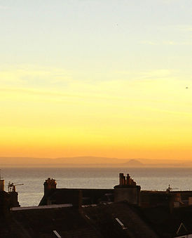 sunset from Crail Posthouse