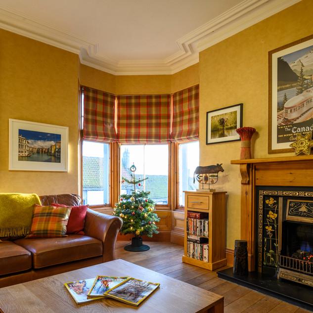 sitting room at christmas