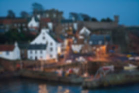 Crail Harbour at night