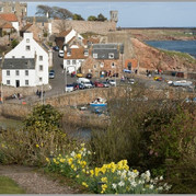 crail harbour from west braes