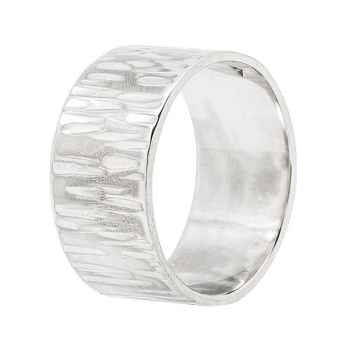 anneau écorce argent