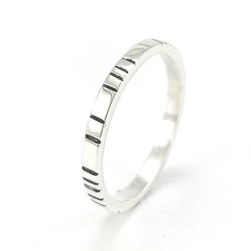 anneau rayé fait main grenoble
