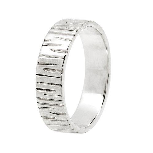 anneau écorce argent 925