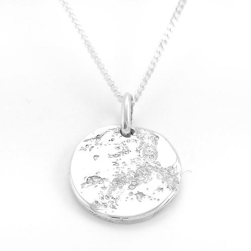 médaille terre de lune argent 925 grenoble