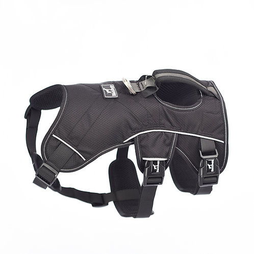 Hondenharnas Safety Zwart reflecterend