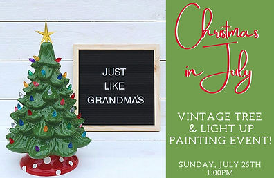 Christmas in JulyVintage Tree Painting P