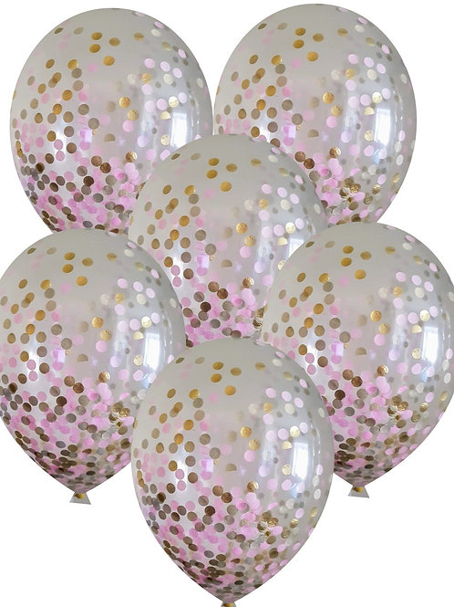 Baby Shower mix confetti balloons Eco friendly Biodegradable with free ribbon