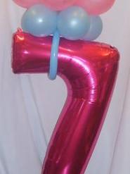 No 7 birthday tower pink