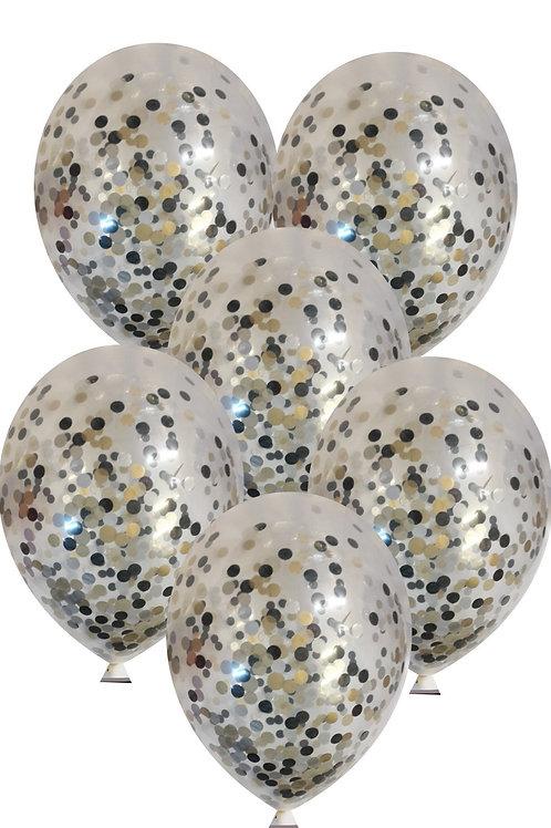 Black mix confetti balloons Eco friendly Biodegradable with free ri