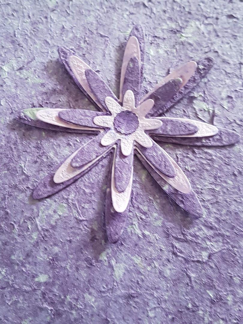 Handmade Purple and Lilac flower