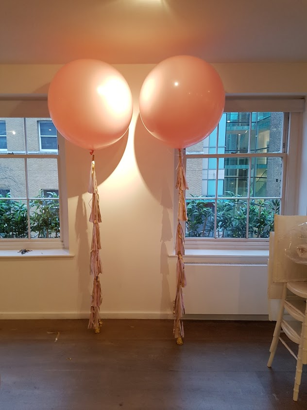 3ft pale pink wedding tassle balloon