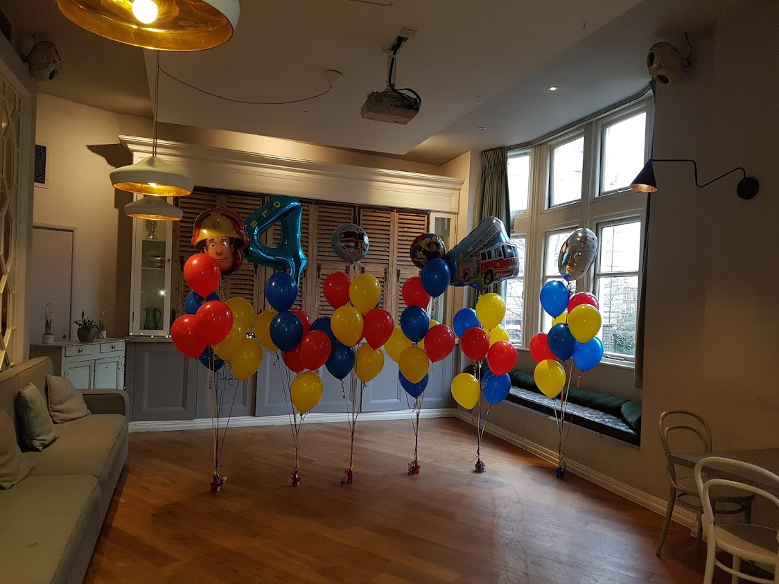 Fireman sam balloons 4th birthday