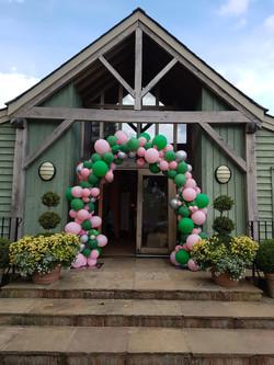 Organic balloon arch wedding meg
