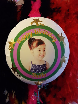 Personalised balloons Picture & text