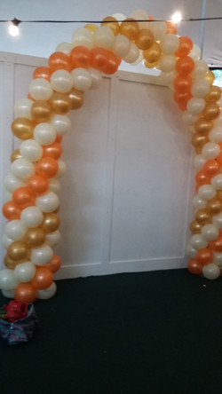 Balloon Arch rose gold, Gold, White