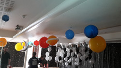 The Solar system for space party