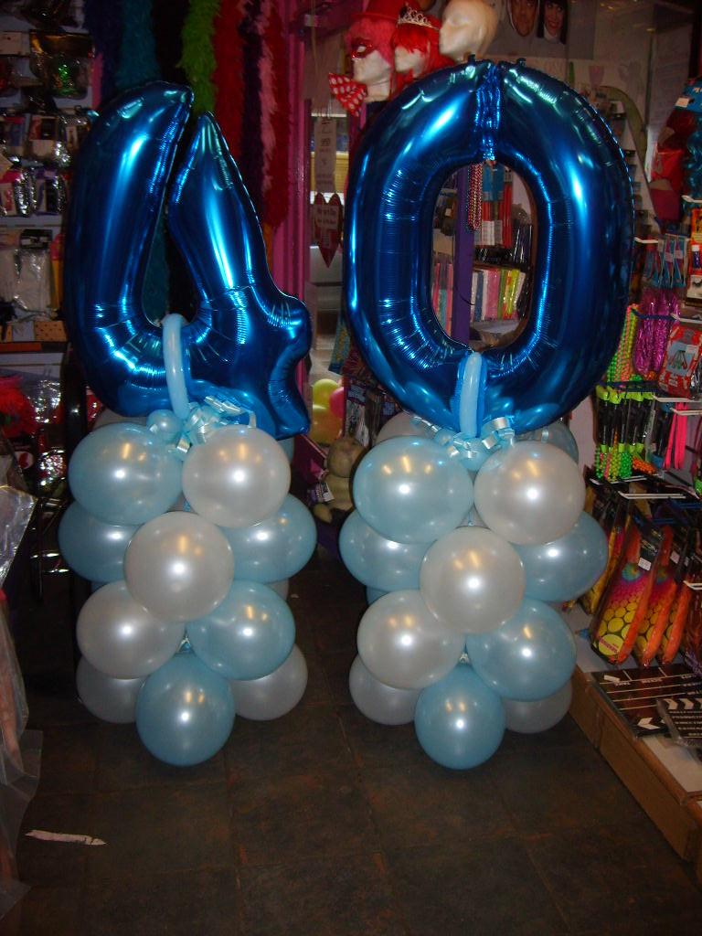40th birthday towers blue
