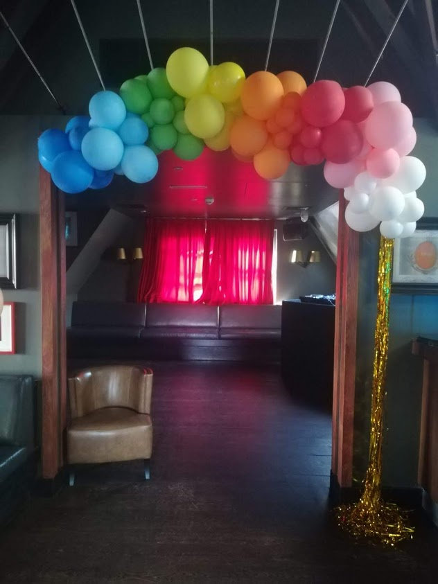 Rainbow balloon 3/4 arch