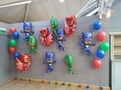 PJ masks balloon wall