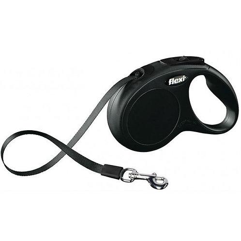 Рулетка Flexi New Classic tape - лента S - для собак до 15 кг, 5 метров
