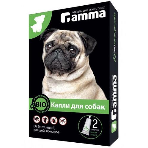 Капли БИО для собак от паразитов (клещей, блох, вшей, комаров), 2 пипетки по 1мл