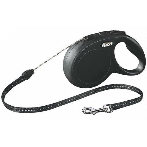 Рулетка Flexi New Classic cord - трос M - для собак до 20 кг, 5 метров