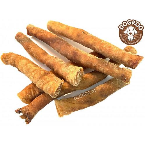 Рулетики из кожи северного оленя сушёные, 100 гр.
