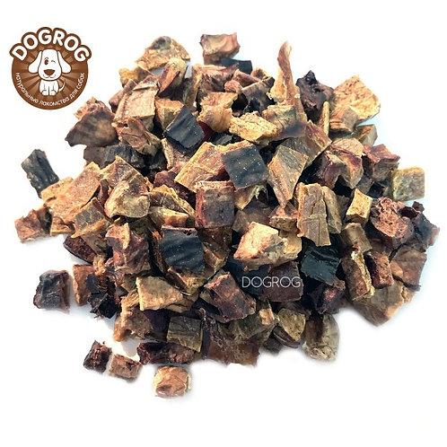 Микс из говяжьих лакомств (лёгкое, вымя, печень), 100 гр.
