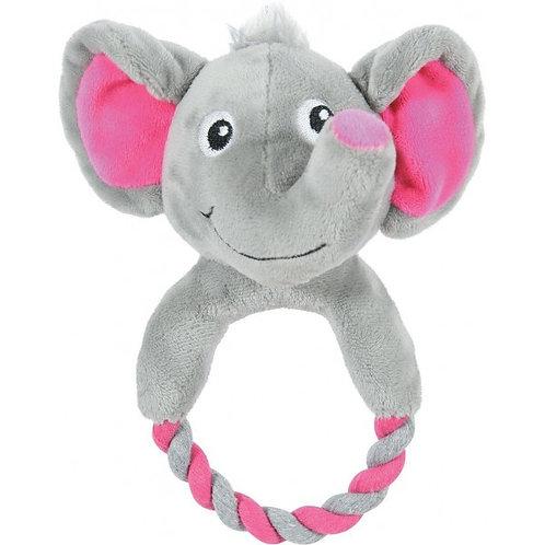 Слоник с кольцом, мягкая игрушка для собак, 20 см