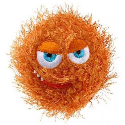 Мяч плюшевый теннисный GiGwi Crazy Ball, оранжевый, 70мм