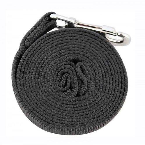 Поводок капроновый для собак, чёрный, 25*3000мм