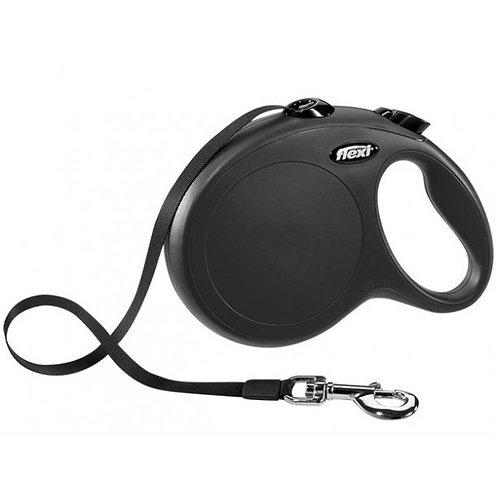 Рулетка Flexi New Classic tape - лента L - для собак до 50 кг (усиленная), 5 мет