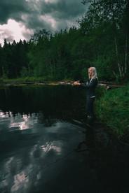POND FISHING GIRL