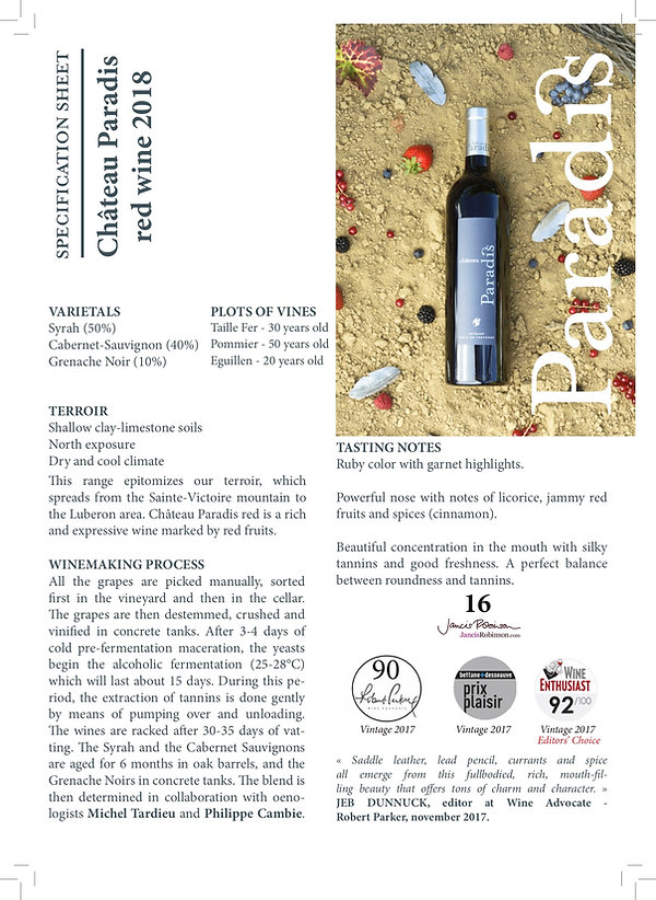 Specification Sheet Château Paradis red wine 2018.jpg