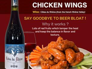 Promesses de France Cotes du Rhone, best wine for chicken wings!