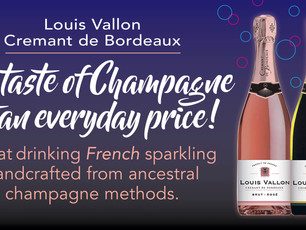 Did you ever think about Cremant de Bordeaux? Great value for the money, unique taste @avenue terroi