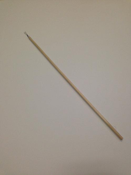 Wooden streamer rods