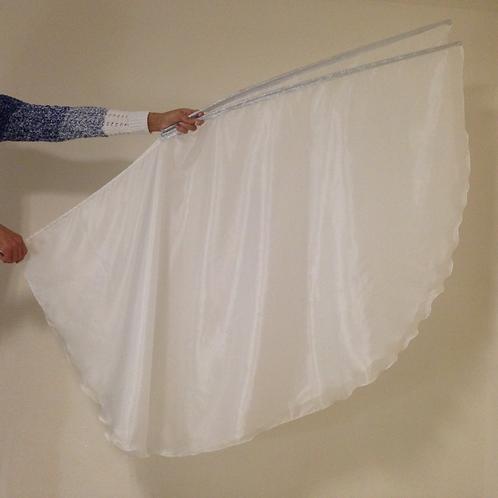 White Poly silk