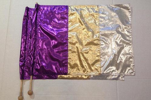 Purple, Gold & Silver
