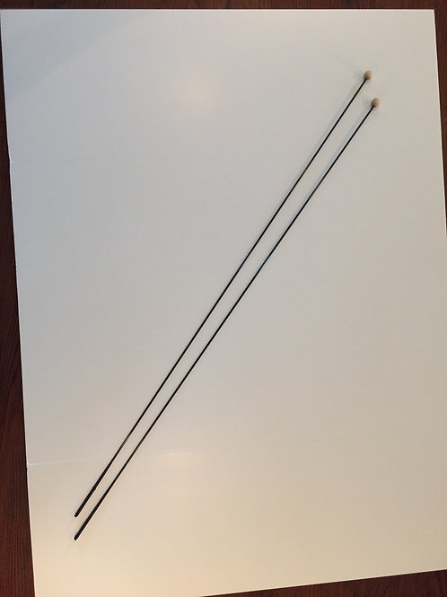Spin rods for silk flags