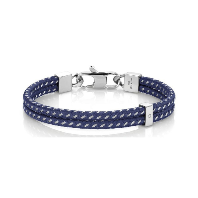 Tribe Gent's Stainless Steel & Blue Polyester Double Bracelet 026431/004 Product Code: 026431/004 £45.00