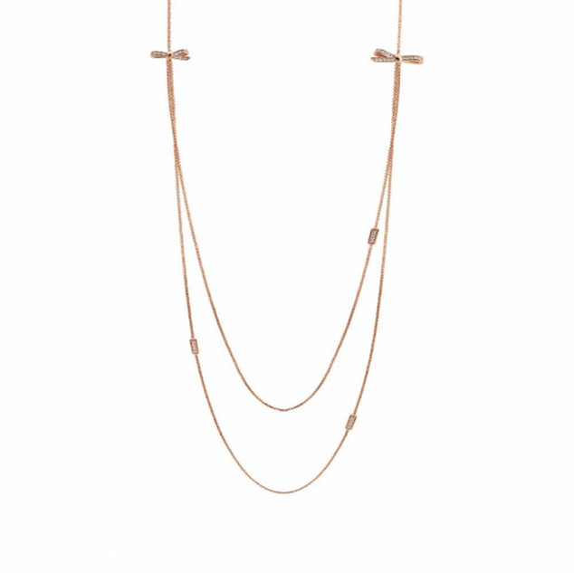 Nomination My Cherie Rose Gold Bow Long Necklace 146306/011 £94.00 - SALE NOW £70